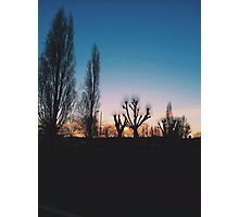 Sunset Park Silhouette Photographic Print