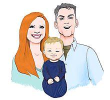 Ballard Family Portrait Photographic Print