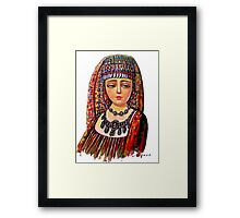 The Armenian Girl (cropped)  Framed Print