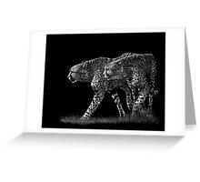 Double Trouble - cheetahs Greeting Card