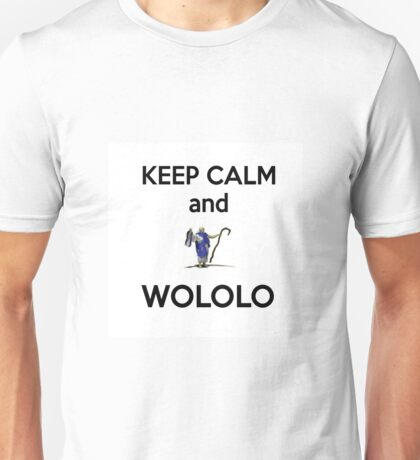 Keep calm and WOLOLO!-white Unisex T-Shirt