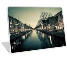 Amsterdam Canal Street view at Night Laptop Skin