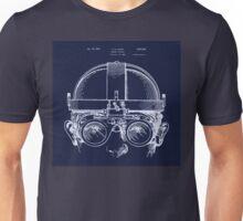 Vintage Welders Goggles blueprint detail drawing Unisex T-Shirt