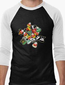 Horror Corn :) Men's Baseball ¾ T-Shirt