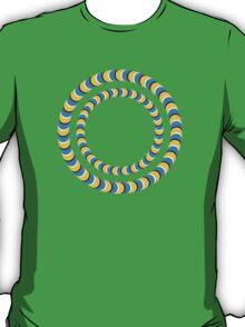 Optical illusion, Rotating tires T-Shirt