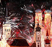 Munich, New Years Eve Fireworks by artshop77