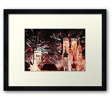 Munich, New Years Eve Fireworks Framed Print