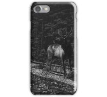 Listen - elk in forest iPhone Case/Skin