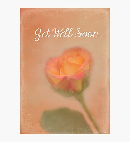 Rose Whispers - Get Well Soon Photographic Print