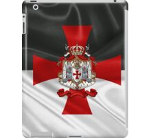Knights Templar - Coat of Arms over Flag iPad Case/Skin