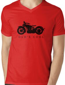 Old's Cool - Vintage Motorcycle Silhouette (Black) Mens V-Neck T-Shirt