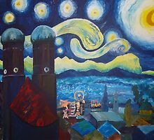 Starry Munich with Oktoberfest by artshop77