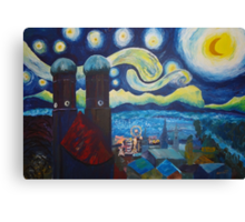 Starry Munich with Oktoberfest Canvas Print