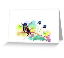 """Spatuletail Hummingbird"" Greeting Card"