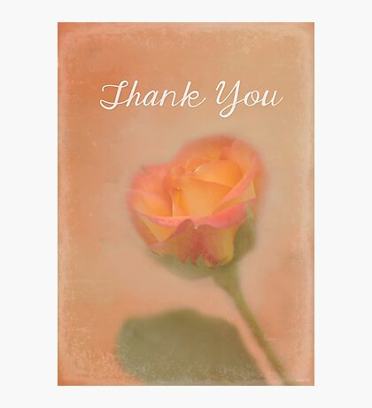 Rose Whispers - Thank You Photographic Print
