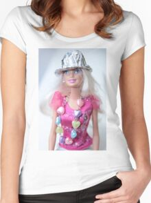 Barbie Doll Women's Fitted Scoop T-Shirt