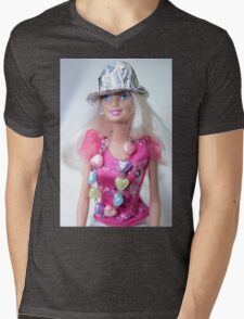 Barbie Doll Mens V-Neck T-Shirt