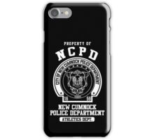 NCPD Athletic Department White Text iPhone Case/Skin
