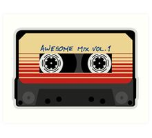 Awesome, Mix Tape Vol.1, Guardians of the galaxy Art Print