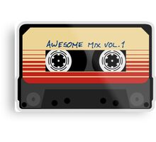 Awesome, Mix Tape Vol.1, Guardians of the galaxy Metal Print