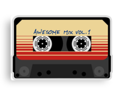 Awesome, Mix Tape Vol.1, Guardians of the galaxy Canvas Print