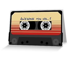 Awesome, Mix Tape Vol.1, Guardians of the galaxy Greeting Card