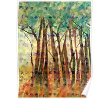 Patterned Trees Poster