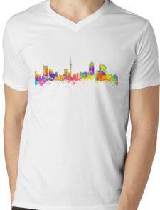 Auckland New Zealand Skyline Mens V-Neck T-Shirt
