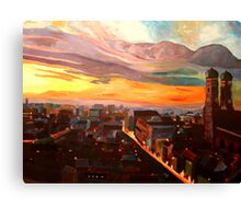 Munich Sunset Skyline with Church of Our Lady Canvas Print