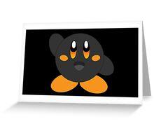 Carbon Kirby - Orange Eyes Greeting Card