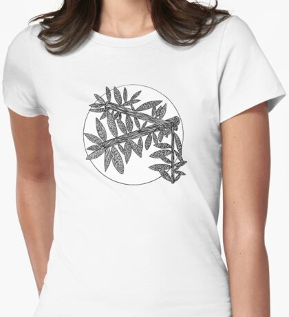 Minimal Nature Line Drawing - 10.6.16 Womens Fitted T-Shirt