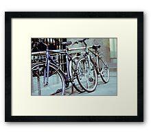 Dublin Bicycles Framed Print