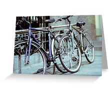 Dublin Bicycles Greeting Card