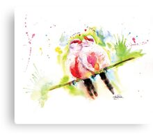 """Common Waxbill in love"" Canvas Print"