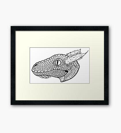 Velociraptor 2 Framed Print