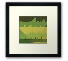 Follow the levels Framed Print