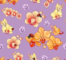 Orchids & Ladybugs by AJonson