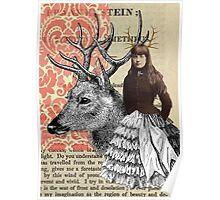 Antler Girl Poster