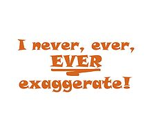 I never, ever, ever exaggerate! by CH4G