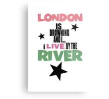I live by the river Metal Print