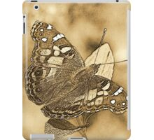 American Painted Lady Sumi-e iPad Case/Skin