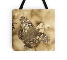 American Painted Lady Sumi-e Tote Bag