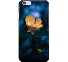 blue orange flower iPhone Case/Skin
