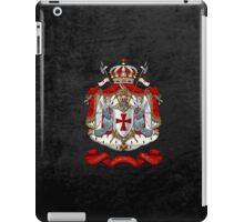Knights Templar - Coat of Arms over Black Velvet iPad Case/Skin
