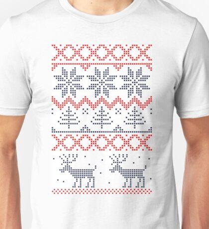 Nordic Christmas Pattern Unisex T-Shirt