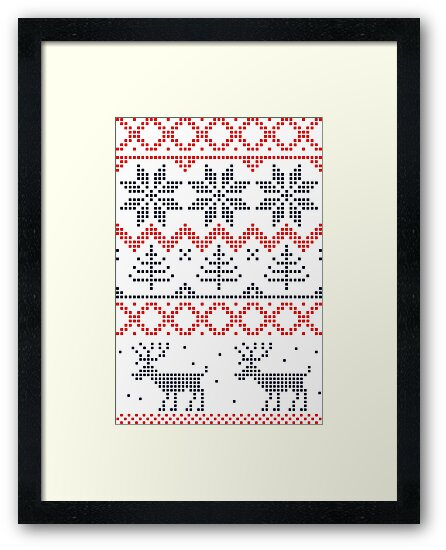 Nordic Christmas Pattern by Anastasiia Kucherenko
