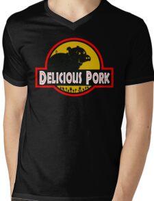 Delicious Pork Mens V-Neck T-Shirt