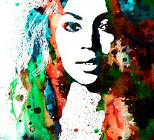 Beyonce by Watercolorsart