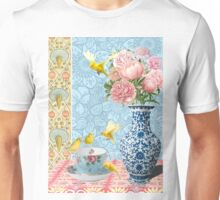 Canaries and Peonies Unisex T-Shirt