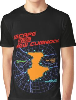 Escape From New Cumnock Title Map Graphic T-Shirt